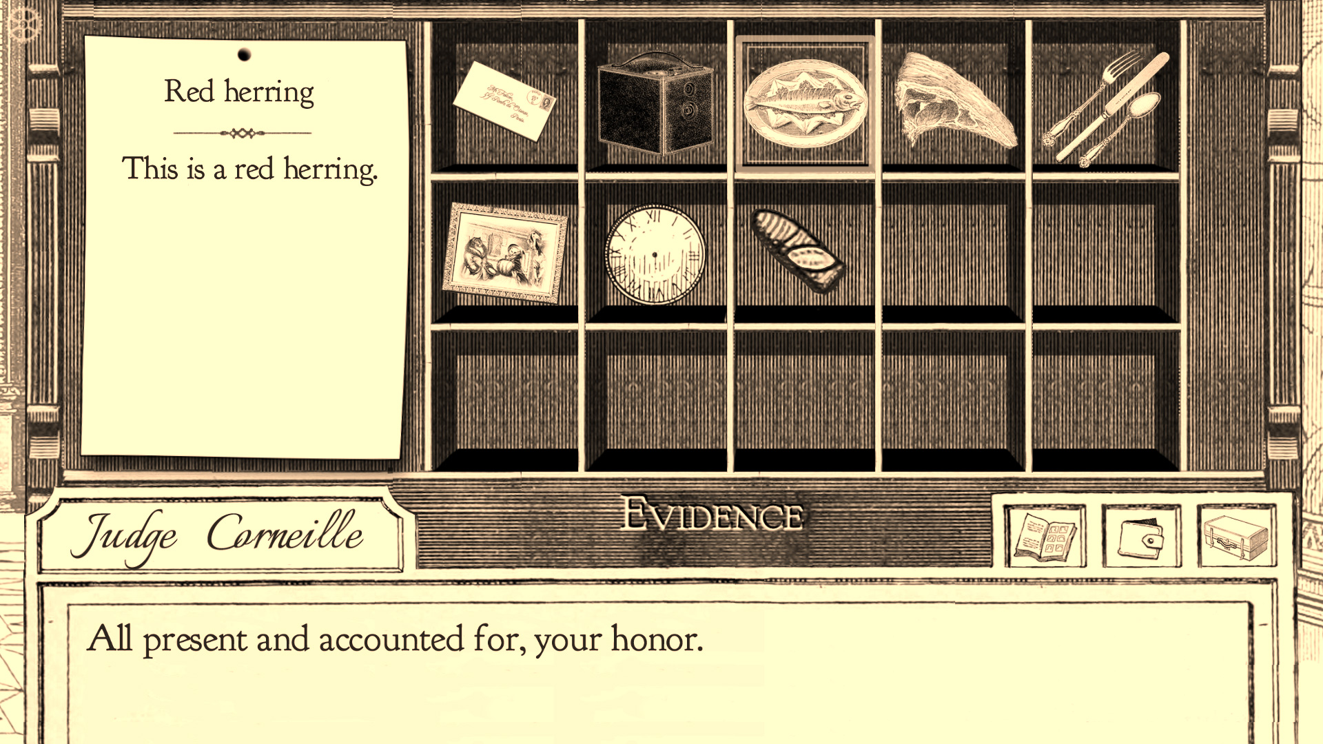 《逆转裁判》玩家应该很熟悉这个证据箱