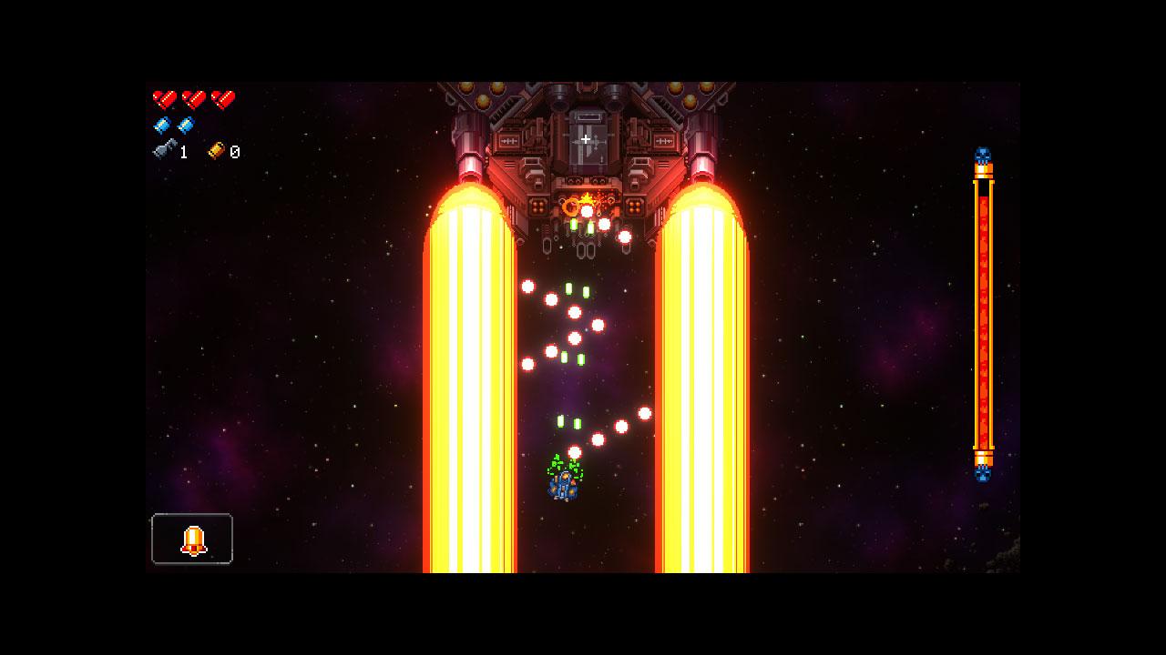 游戏里还有一场精心设置的古典竖版 STG Boss 战,如何玩到就要靠你自己挖掘了
